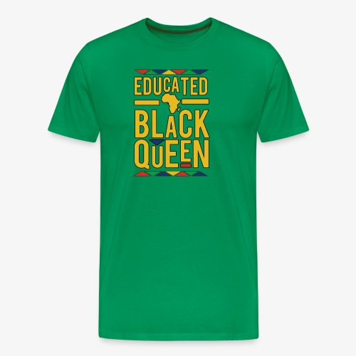 Dashiki Educated BLACK Queen - Men's Premium T-Shirt