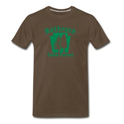 Rothrock State Forest Keystone (w/trees) - Men's Premium T-Shirt
