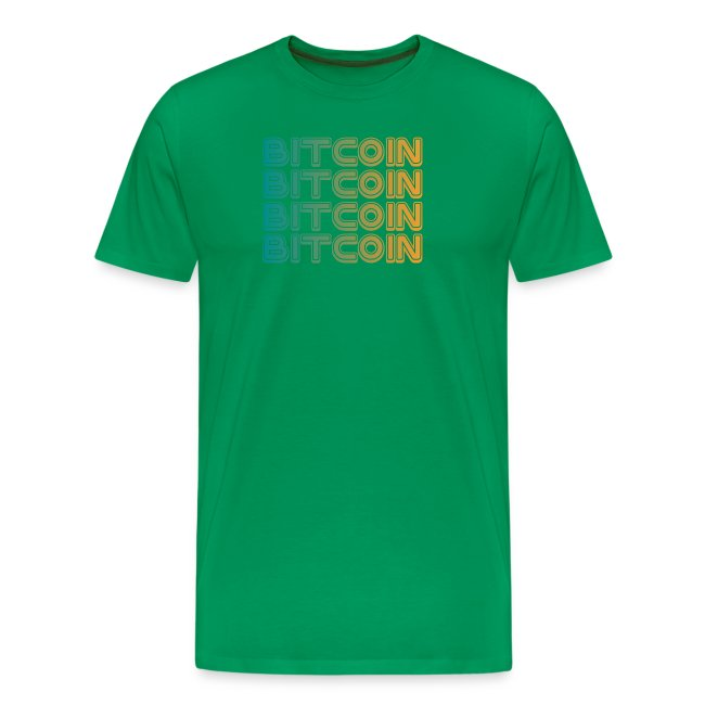 Bitcoin Art Deco Tshirt