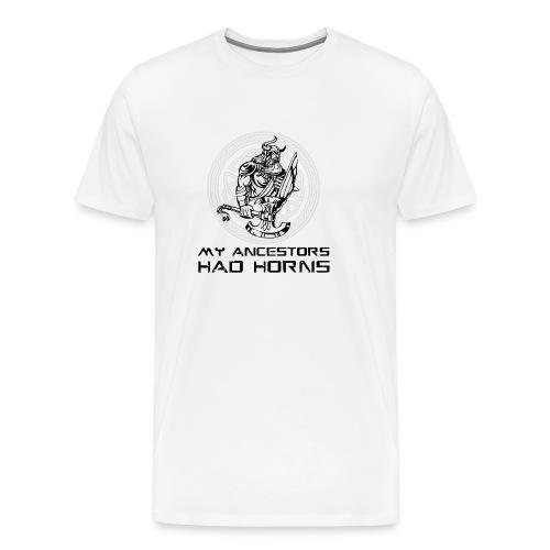 horned helmet tshirt design 2 - Men's Premium T-Shirt