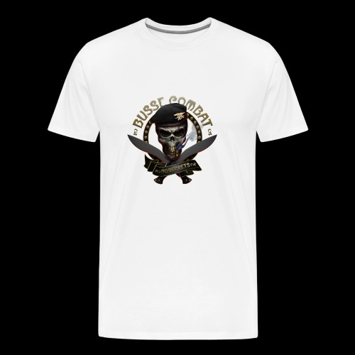 Busse Combat Skull Cigar - Men's Premium T-Shirt