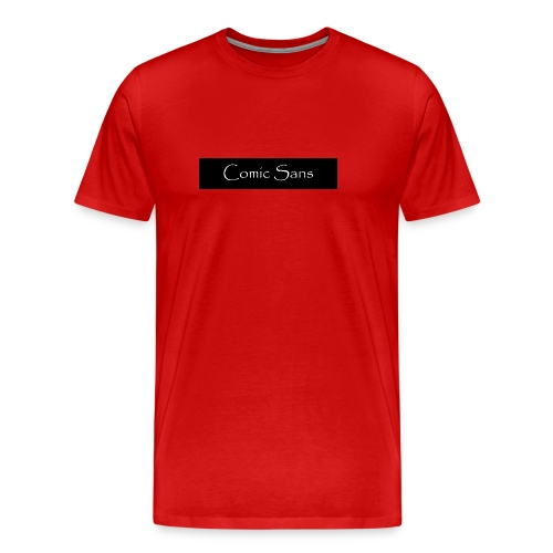 comic sans in papyrus - Men's Premium T-Shirt