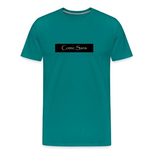 comic sans in papyrus - Men's Premium T-Shirt