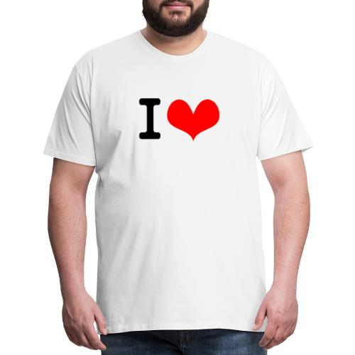 I Love what - Men's Premium T-Shirt
