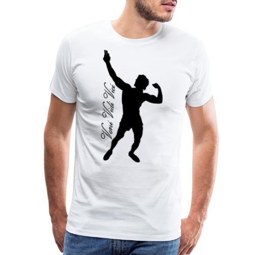 Zyzz Silhouette Veni,Vidi,Vici Calli - Men's Premium T-Shirt