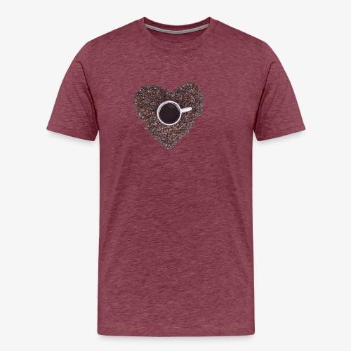 I Heart Coffee Black/White Mug - Men's Premium T-Shirt
