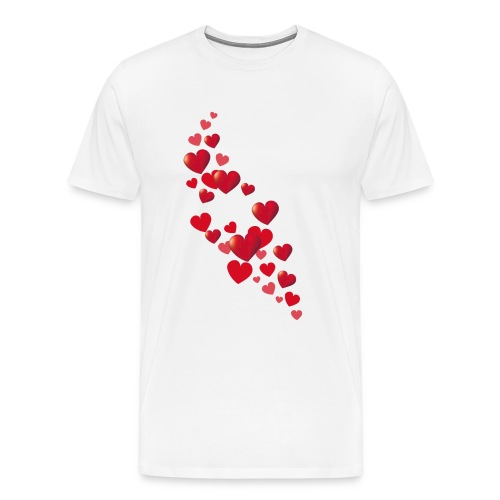 Heart flower - Men's Premium T-Shirt