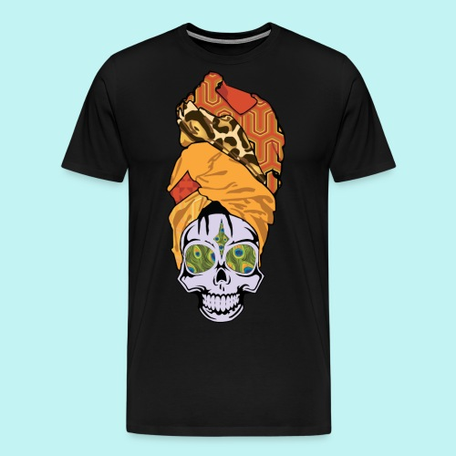 ERYKAH BADU SKULLY - Men's Premium T-Shirt