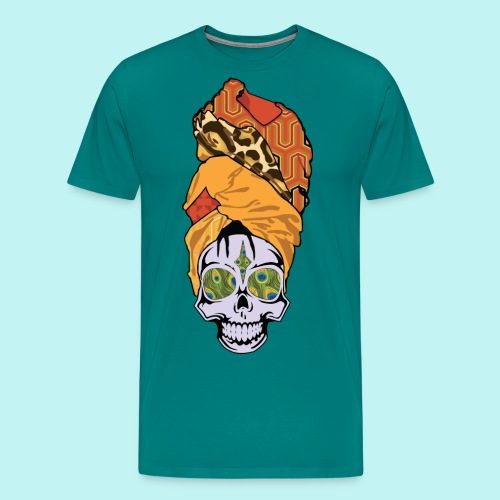 ERYKAH BADU SKULLY - Men's Premium T-Shirt