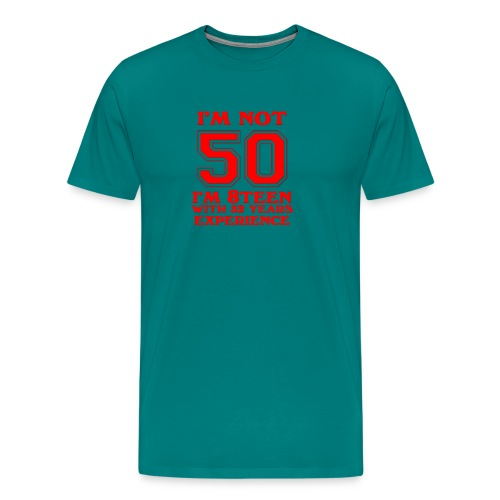 8teen red not 50 - Men's Premium T-Shirt