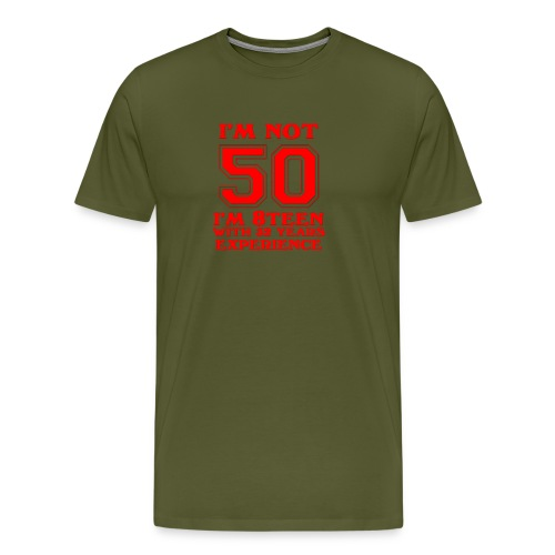 8teen red not 50 - Men's Premium T-Shirt