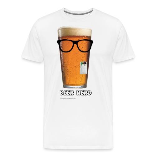 Beer Nerd Men's 3XL/4XL Hooded Sweatshirt - Men's Premium T-Shirt