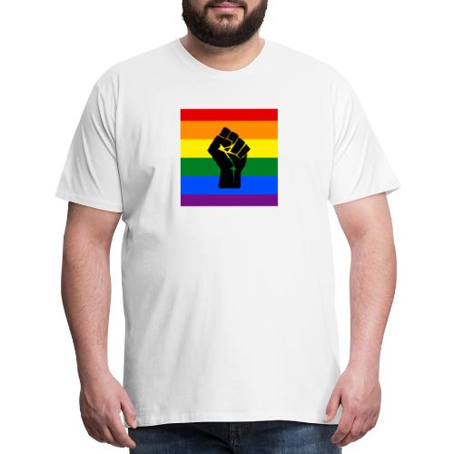 BLM Pride Rainbow Black Lives Matter - Men's Premium T-Shirt