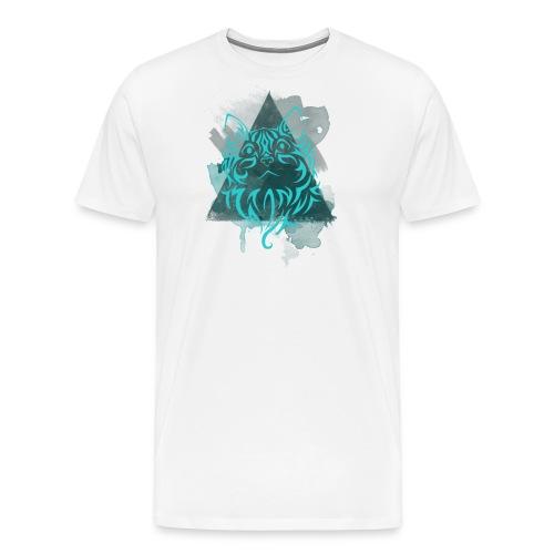 catwaterpainttriangle png - Men's Premium T-Shirt