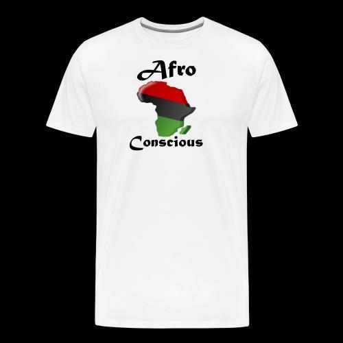 afro conscious black - Men's Premium T-Shirt