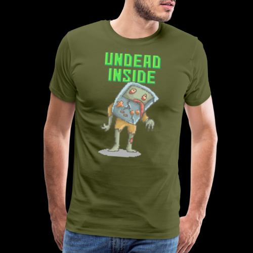 Zombie Video Game | Funny Zombie Pizelart - Men's Premium T-Shirt