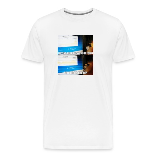 Crypto Lion Buying High and Selling Low - Men's Premium T-Shirt