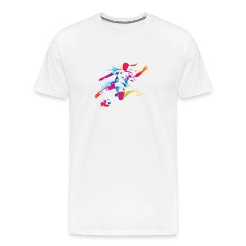 Women's Soccer Color Splatter - Men's Premium T-Shirt