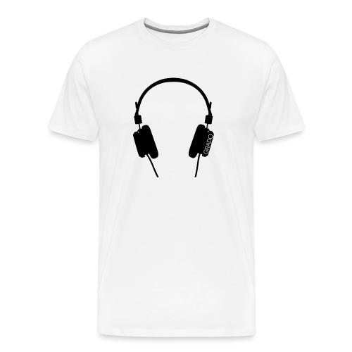Grado Headphone Logo Black With Wordmark png - Men's Premium T-Shirt