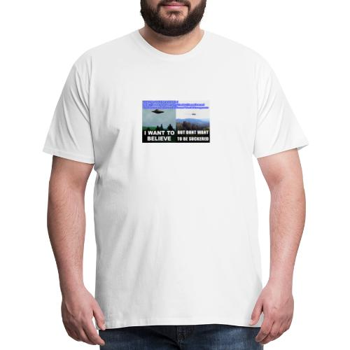 tshirt i want to believe - Men's Premium T-Shirt