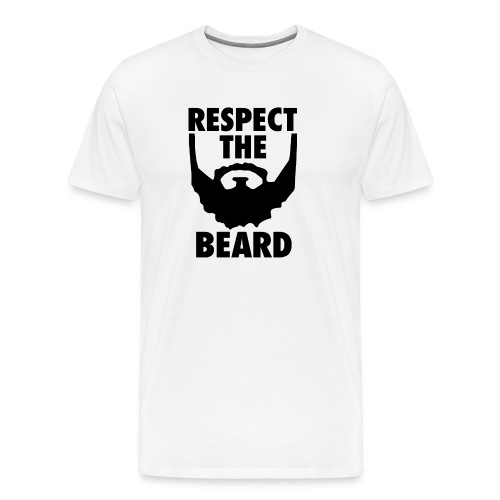Respect the beard 05 - Men's Premium T-Shirt