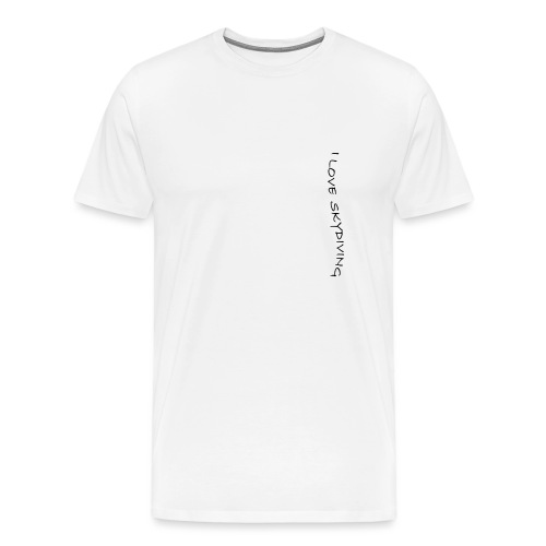 I love skydiving/T-shirt/BookSkydive - Men's Premium T-Shirt