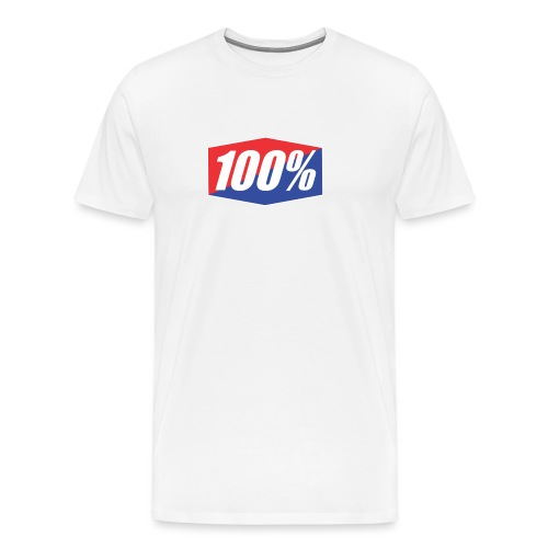 100% Logo Design - Men's Premium T-Shirt