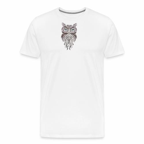 tatouage ephemere hibou tribal - Men's Premium T-Shirt