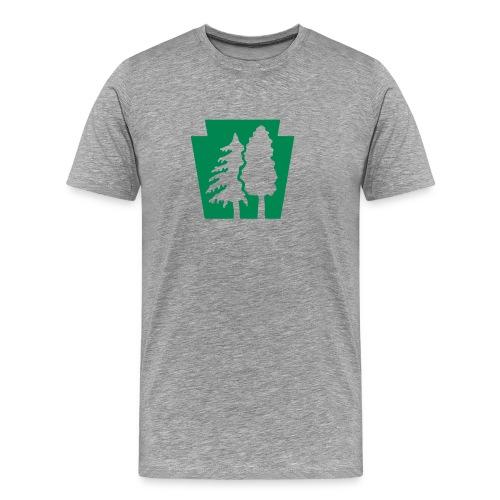 PA Keystone w/trees - Men's Premium T-Shirt