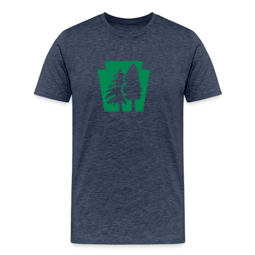 PA Keystone w/trees - Men's Premium T-Shirt
