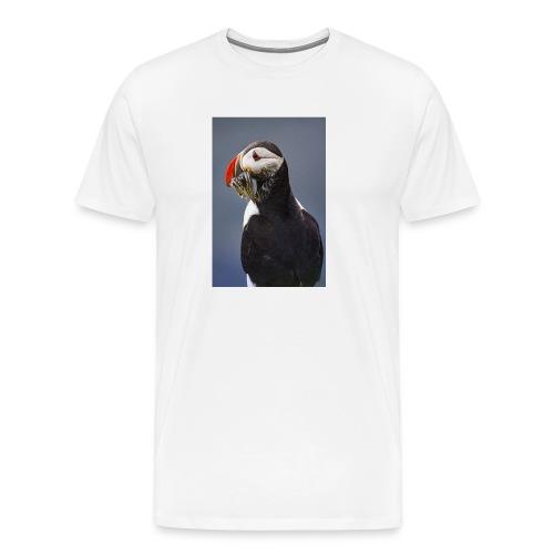 Atlantic Puffin with Sandeels - Men's Premium T-Shirt