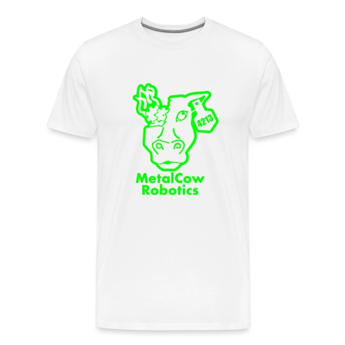MetalCowLogo GreenOutline - Men's Premium T-Shirt