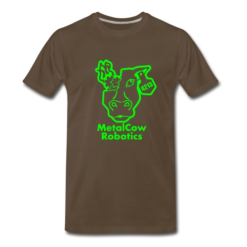 MetalCowLogo GreenOutline - Men's Premium T-Shirt