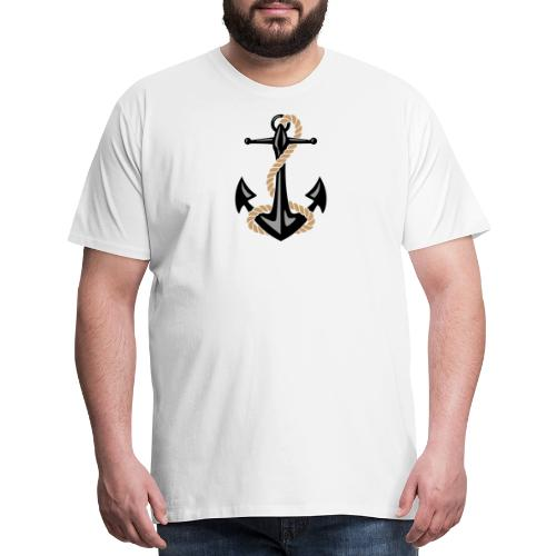 Classic Nautical Anchor and Rope Design - Men's Premium T-Shirt