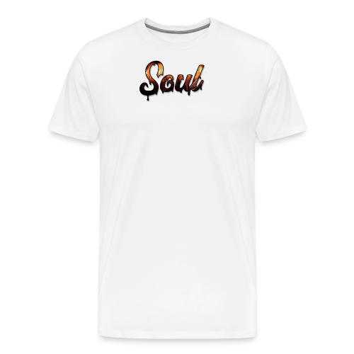 SOUL Apparel Pixel Hell Logo - Men's Premium T-Shirt