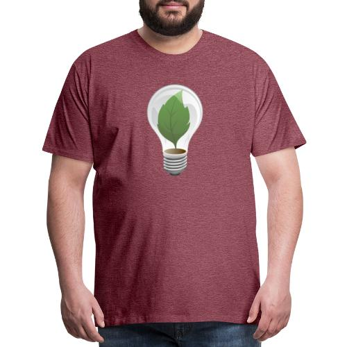 Clean Energy Green Leaf Illustration - Men's Premium T-Shirt