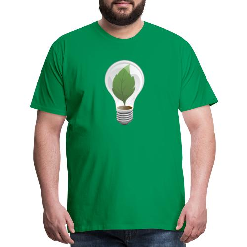 Clean Energy Green Leaf Illustration - Men's Premium T-Shirt