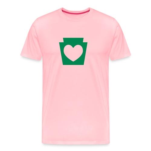 Love/Heart PA Keystone - Men's Premium T-Shirt