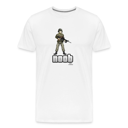 n00b design v1 with logo png - Men's Premium T-Shirt