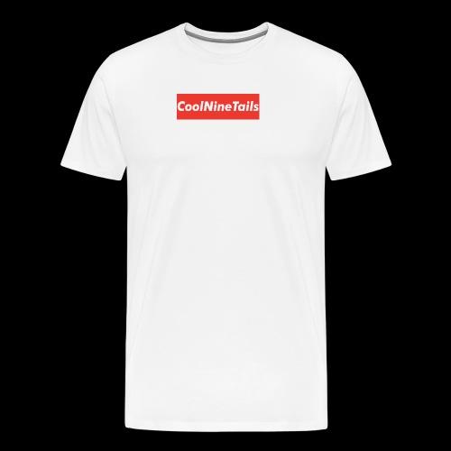 CoolNineTails supreme logo - Men's Premium T-Shirt