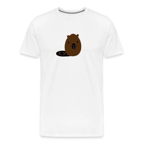 Cute Beaver - Men's Premium T-Shirt