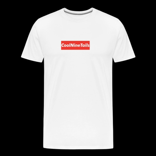 CoolNineTails supreme logo - Men's Premium T-Shirt