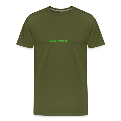 Go Skydive T-shirt/Book Skydive - Men's Premium T-Shirt