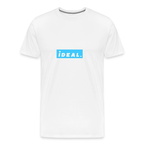 rare ideal blue logo - Men's Premium T-Shirt