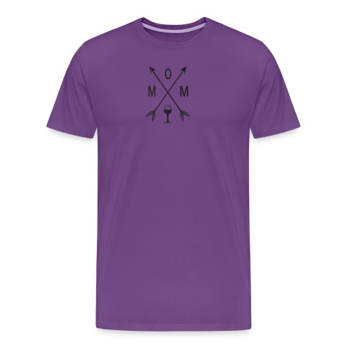 Mom Loves Wine (black ink) - Men's Premium T-Shirt