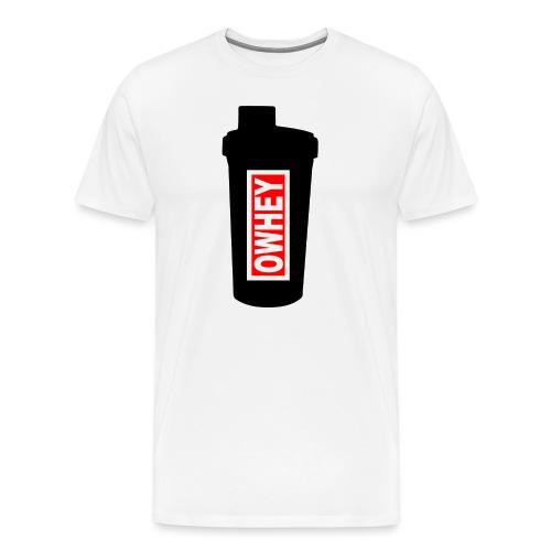 OWHEY Protein Shaker - Men's Premium T-Shirt