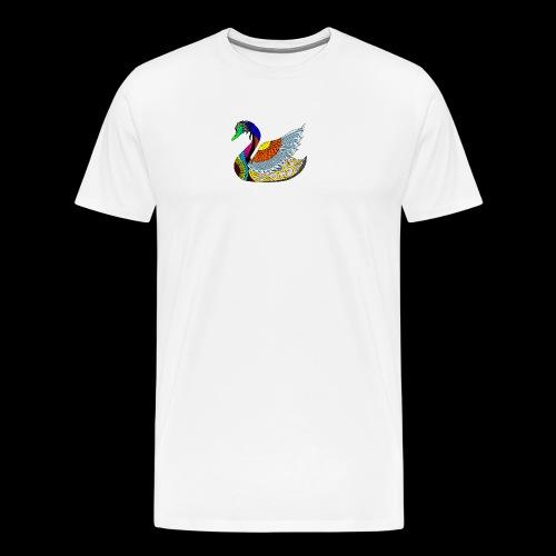 the swan - Men's Premium T-Shirt