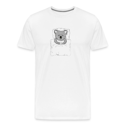Print With Koala Lying In A Bed - Men's Premium T-Shirt