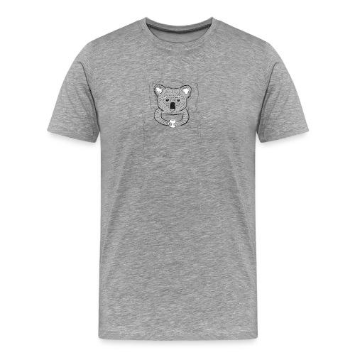 Print With Koala Lying In A Bed - Men's Premium T-Shirt