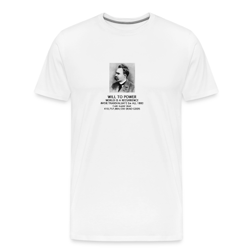 world is a recurrence - Nietzsche - Men's Premium T-Shirt